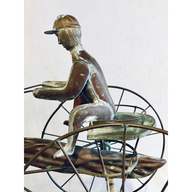 Brown St. Julien Weather Vane Attributed to j.w. Fiske 19th Century Full Bodied Metal For Sale - Image 8 of 12