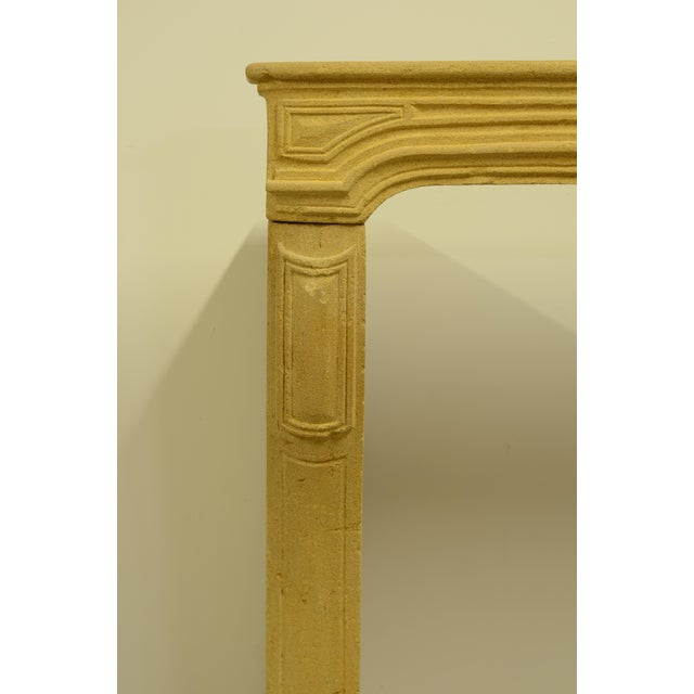 Gold Antique Limestone Fireplace From France, 19th Century For Sale - Image 8 of 12
