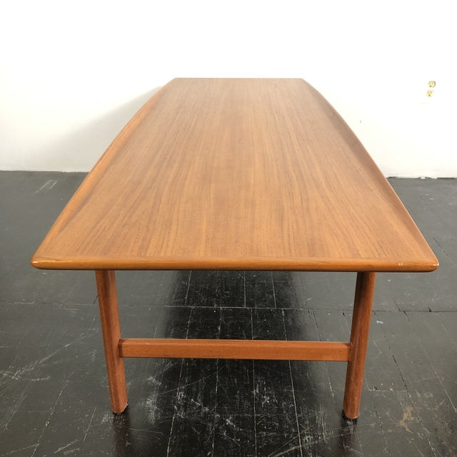 1960's Teak Frisco Surfboard Coffee Table by Folke Ohlsson For Sale - Image 12 of 13