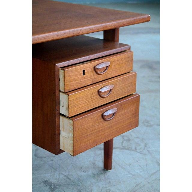 Executive Teak Desk Model FM 60 by Kai Kristiansen for Feldballes Møbelfabrik For Sale In New York - Image 6 of 10