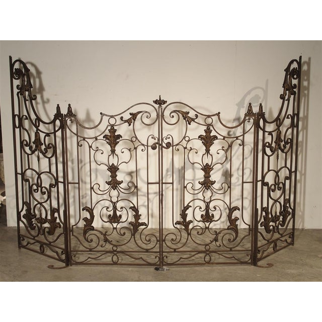 Circa 1800 French Wrought Iron 4 Section Gate - A Pair For Sale - Image 12 of 12