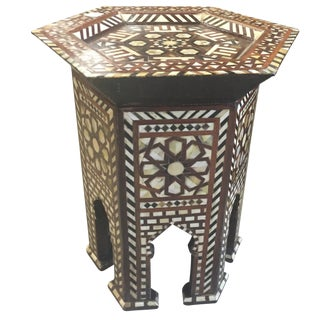 Pair of Moorish Mother-Of-Pearl Tables For Sale
