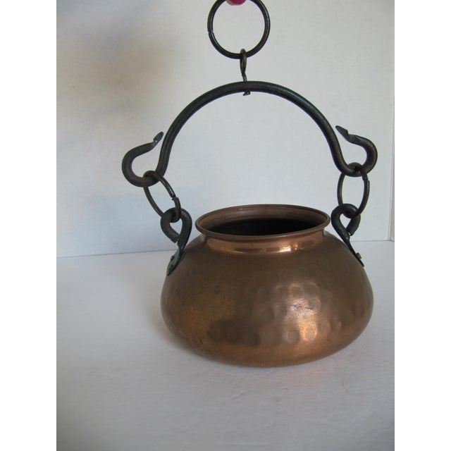 Hanging Turkish Copper Pot - Image 2 of 6