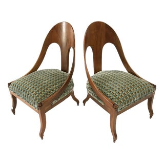 Neoclassic Chairs by Michael Taylor for Baker — a Pair For Sale