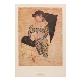 1980 Pablo Picasso, Paul en Arlequin, Original Parisian Lithograph For Sale