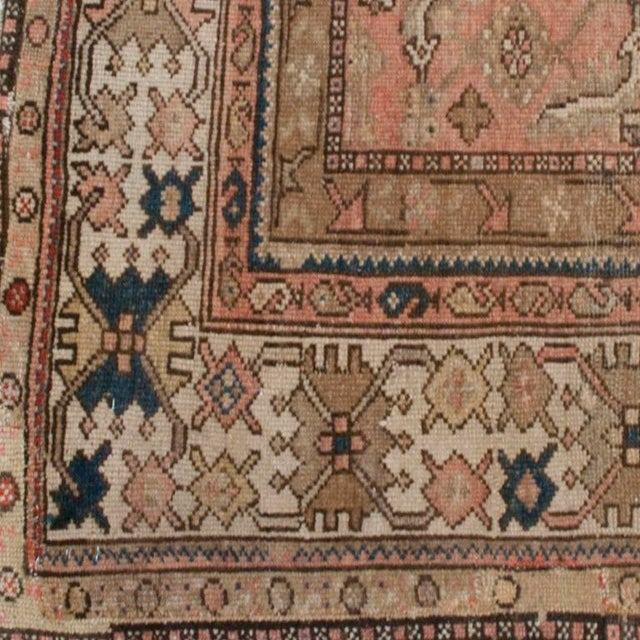"""Islamic Antique Malayer Carpet - 5'3"""" x 11'10"""" For Sale - Image 3 of 6"""