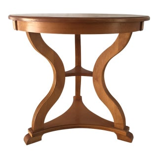 """Ethan Allen Round 28""""Dia. Mahogany Occasional Table"""