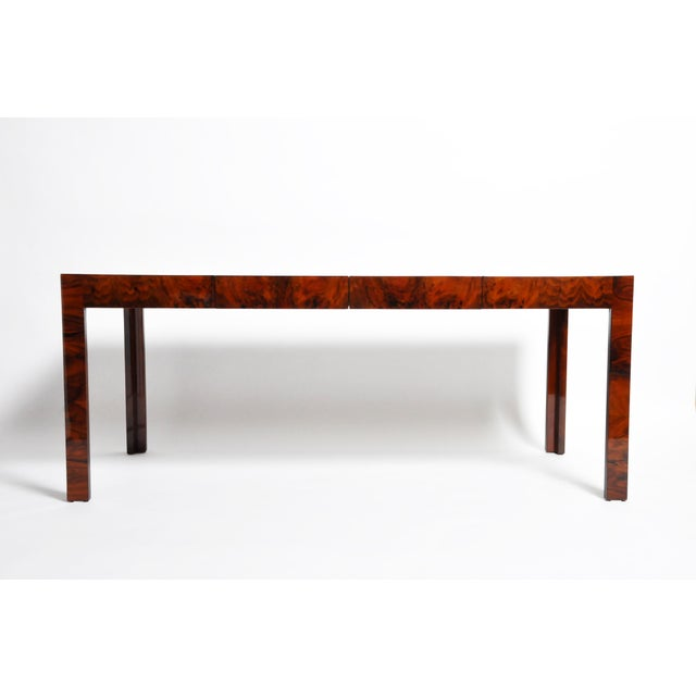 2010s Hungarian Walnut Veneer Dining Table With Extensions For Sale - Image 5 of 13
