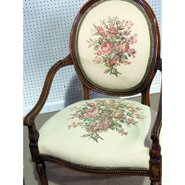 English Traditional Set of 4 Adams Style Arm Chairs For Sale - Image 3 of 9