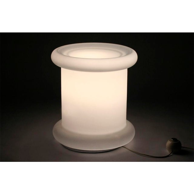 Koch + Lowy 'Tablette' White Satin Triplex Glass Lamp For Sale In New York - Image 6 of 6