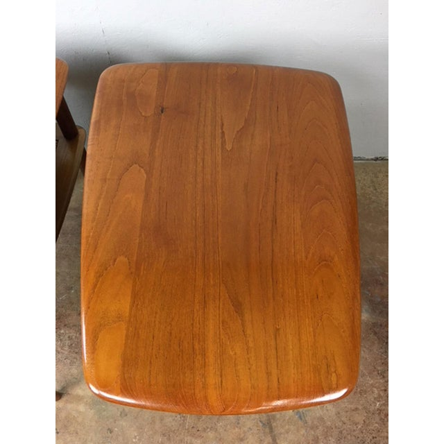 Peter Hvidt MCM Solid Teak End Table - A Pair For Sale In Phoenix - Image 6 of 9
