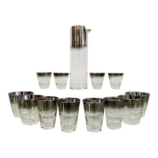 Mid-Century Silver Fade Cocktail Set For Sale