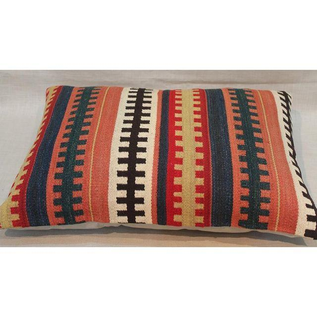1930s Vintage Kilim Pillows - A Pair - Image 2 of 2