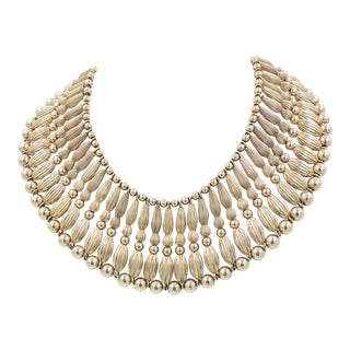 Monet Ad Piece Egyptian Revival Collar Necklace, 1955 For Sale