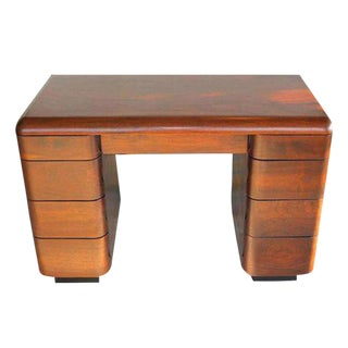 1940's Paul Goldman Bent Plywood Desk for Plymold Corp For Sale