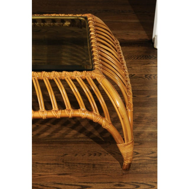 Unique Restored Tiara Coffee Table by Henry Olko for Willow and Reed, Circa 1979 For Sale - Image 11 of 13