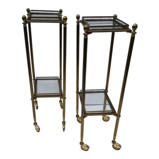 1950s Maison Bagues Style Side Tables - a Pair For Sale