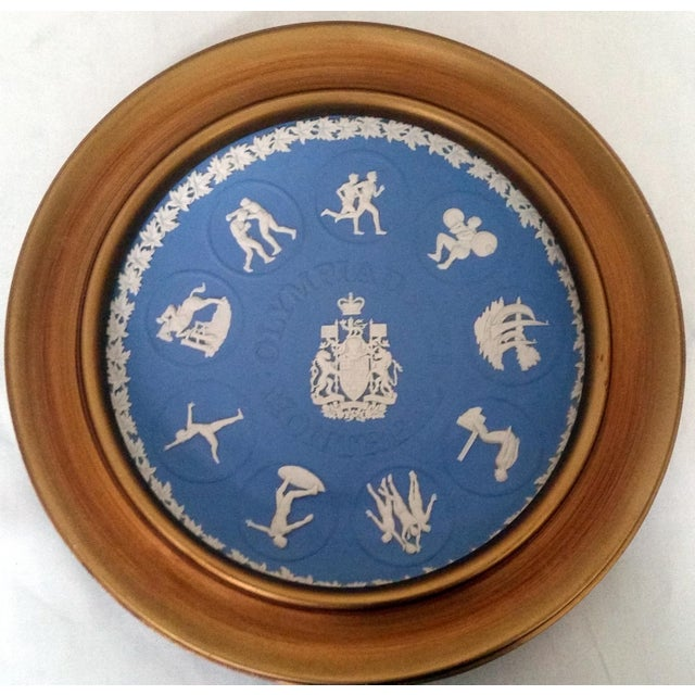 This Jasperware Wedgwood Plate was issued in 1776 to commemorate the Montreal Olympics. It features the Canadian Coat of...