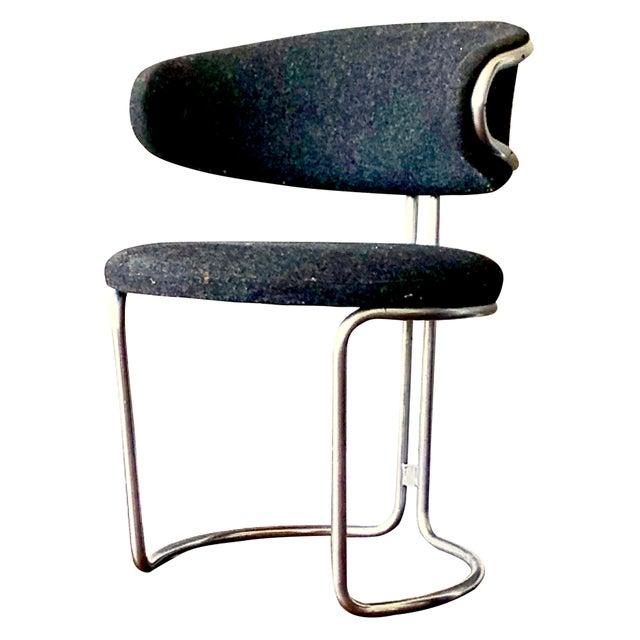 Chrome Vintage Barrel Back Modernist Chair For Sale - Image 8 of 9