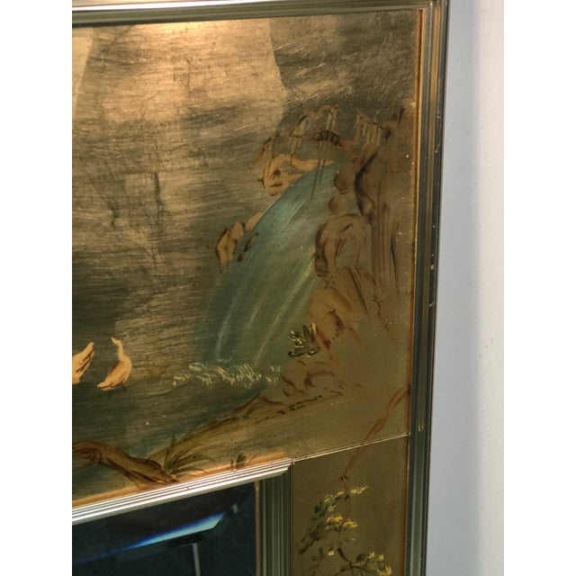 La Barge Hand Painted Gold Leaf Eglomise Mirror For Sale In Philadelphia - Image 6 of 9