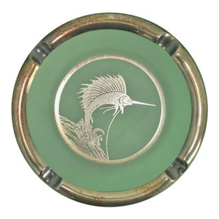 Sterling Sailfish Ashtray For Sale