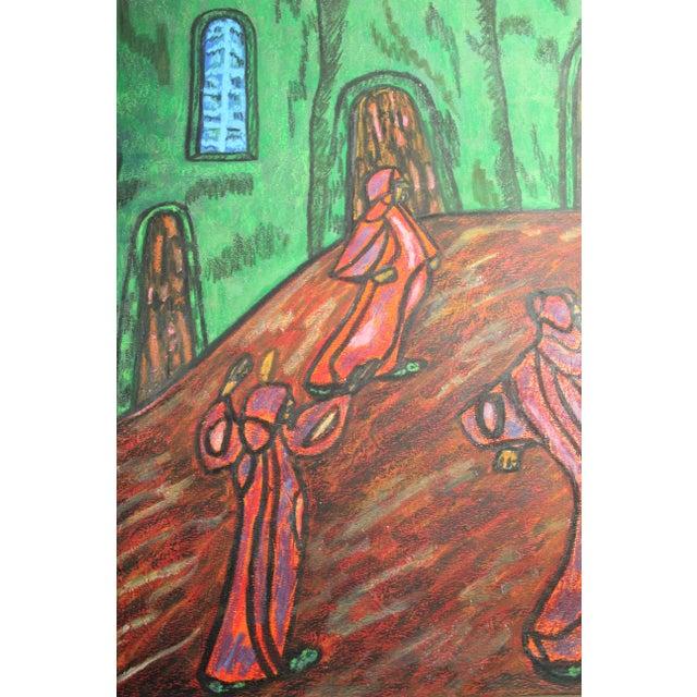 Folk Art Anthony Joseph Salvatore Outsider Artist Original Symbolist Expressionist Drawing For Sale - Image 3 of 6