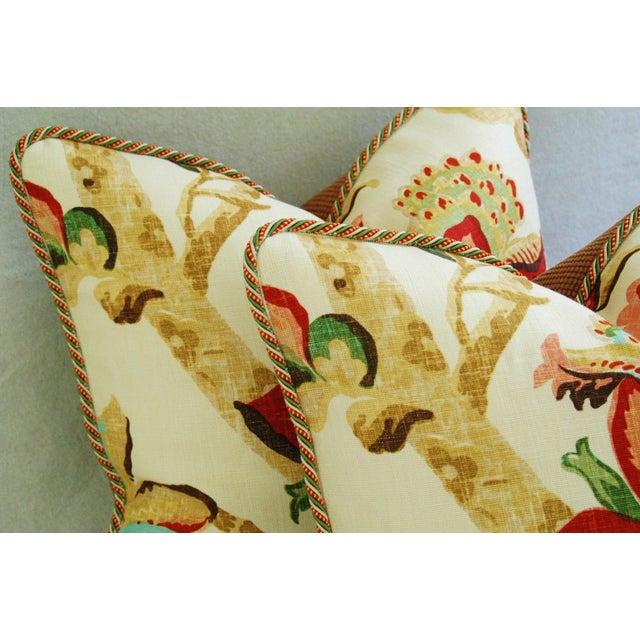 Custom Schumacher Kelmscott Manor Pillows - A Pair - Image 8 of 11