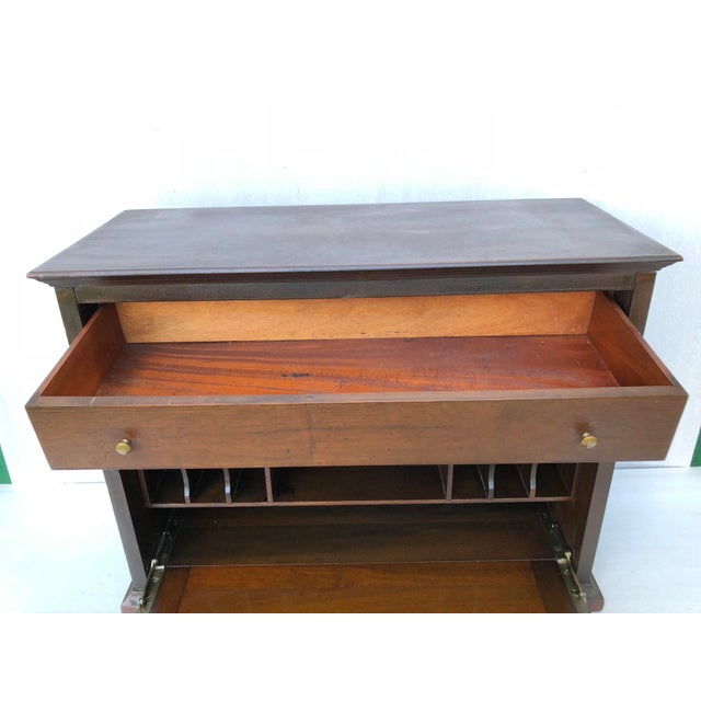 Traditional Antique Solid Wood Desk For Sale - Image 3 of 11