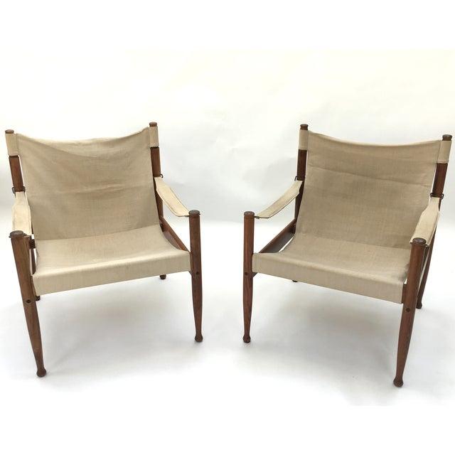Safari Sling Lounge Chairs by Erik Wørts - A Pair - Image 2 of 6