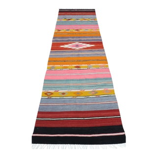 Mid 20th Century Anatolian Kilim Runner-3′2″ × 10′ For Sale