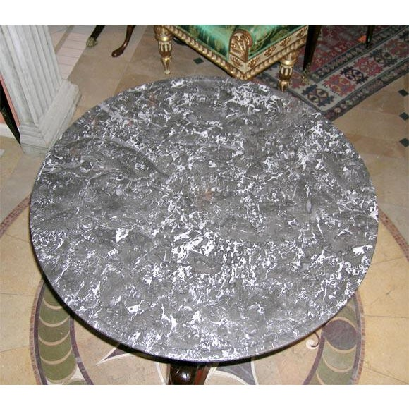 Empire Empire Marble-Top Center Table For Sale - Image 3 of 7