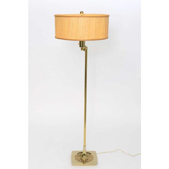 186d56716145f Laurel Lamp Company 1950s Laurel Mid-Century Modern Brass Floor Lamp with  Articulating Swing Arm