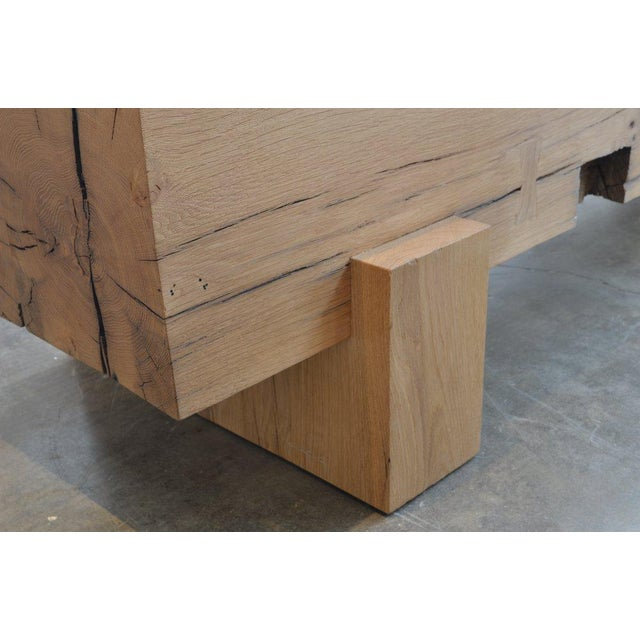 Ozshop Antique Oak Beam Coffee Table For Sale - Image 4 of 5