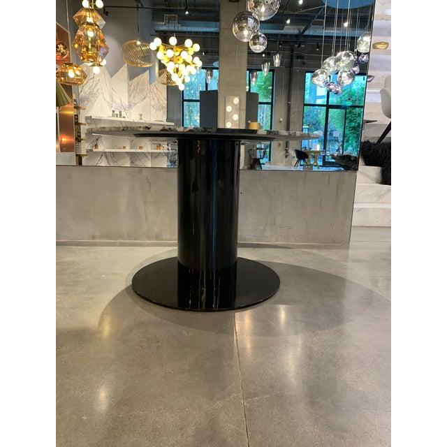 Black Tom Dixon Primavera Table 1100mm withTube Black Base For Sale - Image 8 of 11