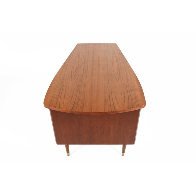 Danish Modern Biomorphic Double Drop Leaf Desk - Image 4 of 11