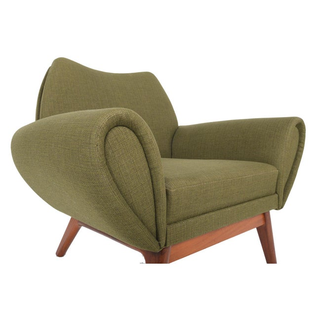 Johannes Andersen Lounge Chair in Olive - Image 9 of 11