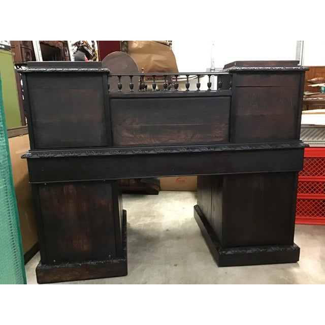 Gothic Revival Green Man Dickens Executive Desk For Sale - Image 13 of 13
