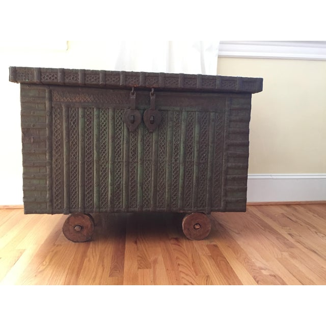 Antique Indian Wedding Trunk - Image 2 of 5