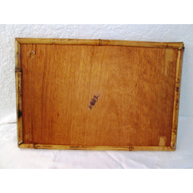 Bamboo Vintage Tortoise Bamboo & Rattan Tray For Sale - Image 7 of 7