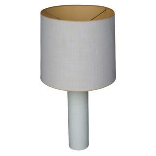 George Kovacs White Leather Table Lamp For Sale