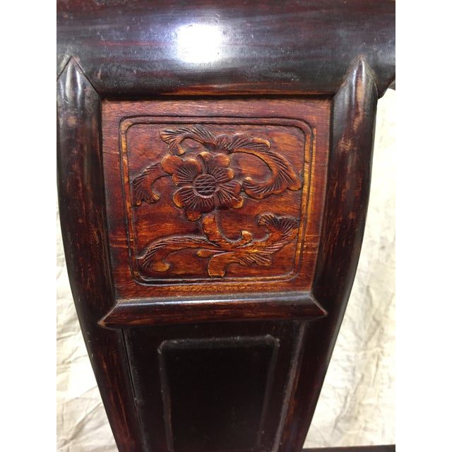 Red Late 19th Century Antique Chinese Gaming Table & Chairs- 5 Pieces For Sale - Image 8 of 13