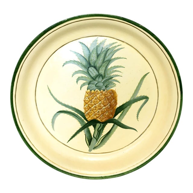 Hand-Painted Pineapple Serving Tray - Image 1 of 6