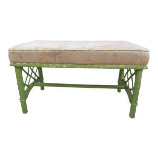 Vintage Ficks Reed Rattan Bench For Sale