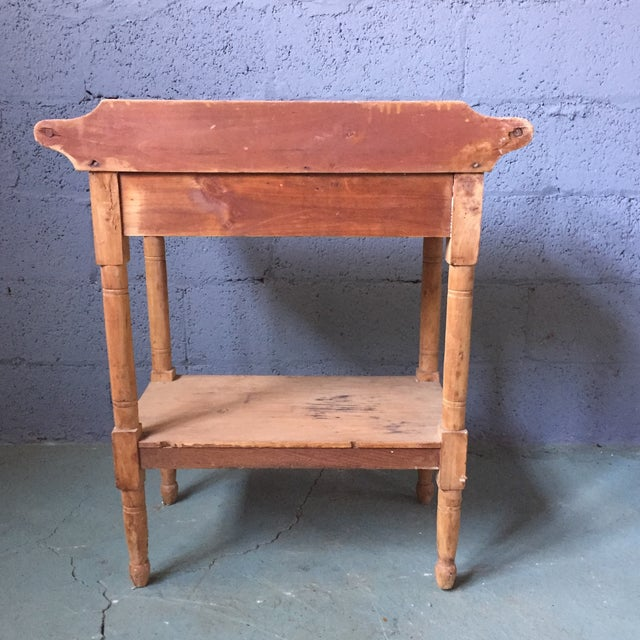 Antique Pine & Milk Glass Washstand For Sale - Image 5 of 11