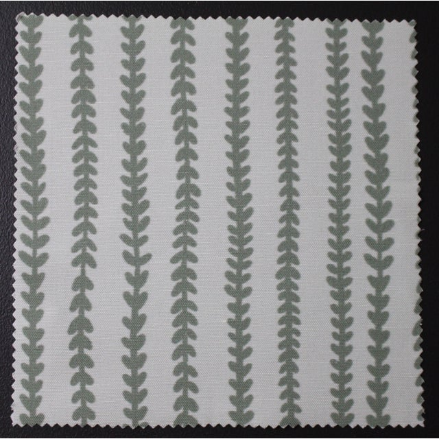 Not Yet Made - Made To Order Hajarie Tiny Vines Fabric, 1 Yard, Sage in Linen & Cotton For Sale - Image 5 of 5