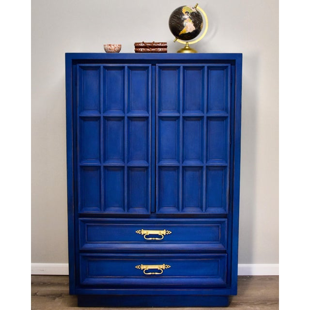 Blue Mid-Century Gentleman's Chest - Image 3 of 11