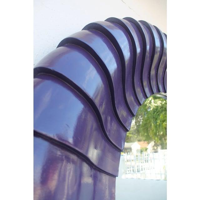Sunburst Purple Wall Mirror - Image 7 of 11
