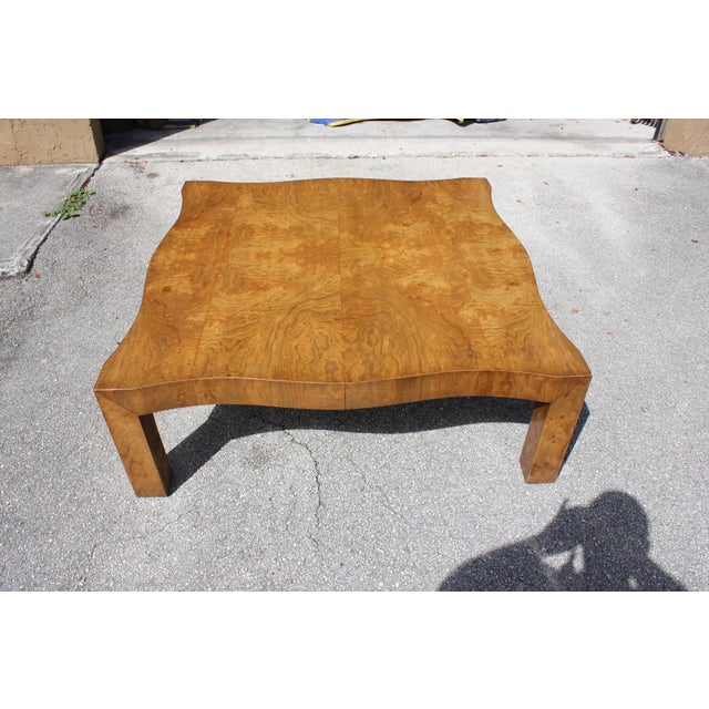 Brown 1970s Danish Modern Cherry Wood Coffee Table For Sale - Image 8 of 13