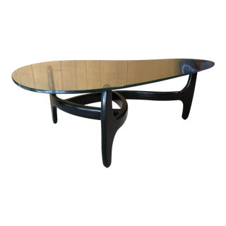 Mid Century Modern Sculptural Coffee Table For Sale