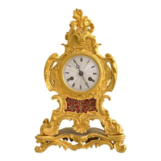 Early 19th Century French Louis XIV Style Ormolu Mantle Clock For Sale